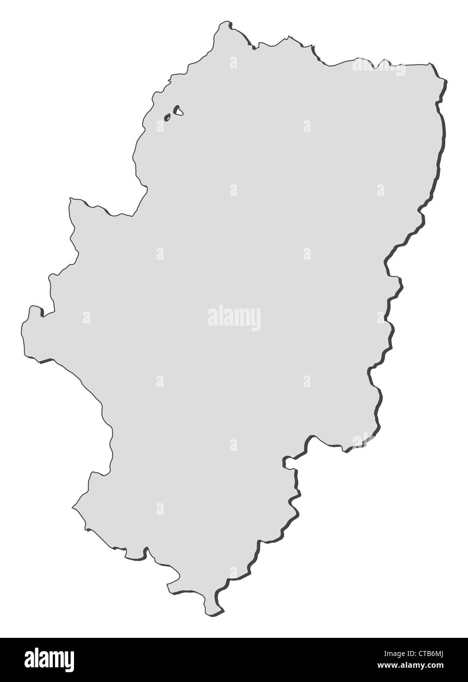 Map of Aragon, a region of Spain. - Stock Image