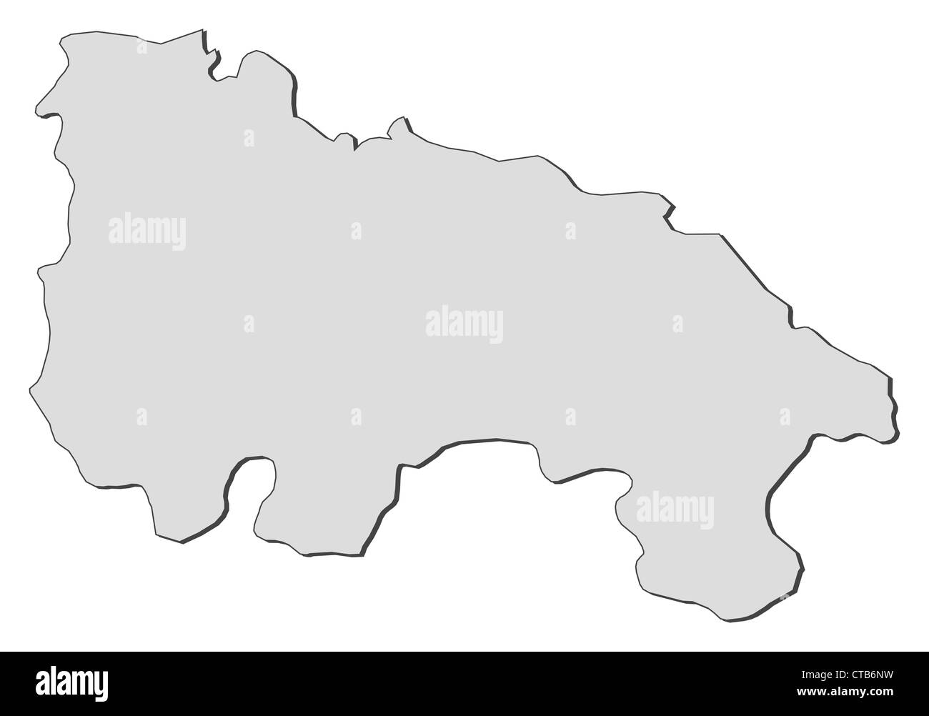 Map of La Rioja, a region of Spain. - Stock Image