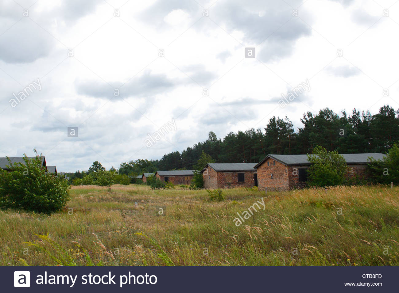 Memorial in Sachsenhausen concentration camp, in Oranienburg, Germany. - Stock Image