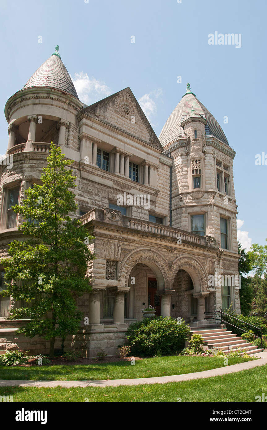 Kentucky, Old Louisville neighborhood, Conrad- Caldwell House Museum, Victorian Romanesque Revival mansion built - Stock Image