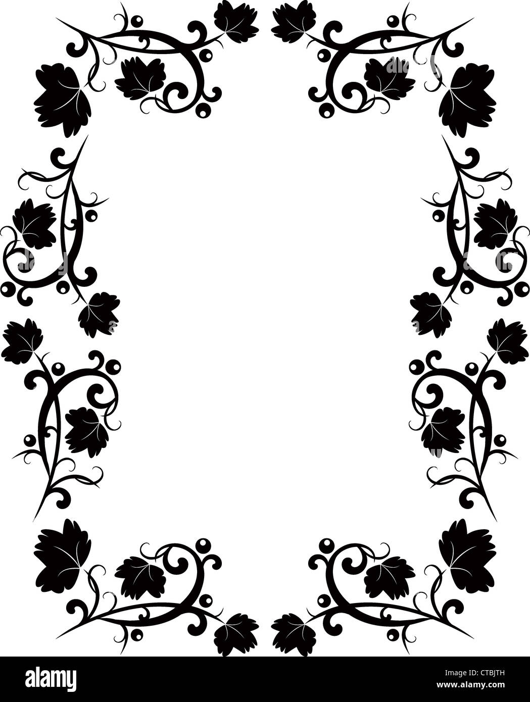 Floral Border Black And White Stock Photos Images Alamy