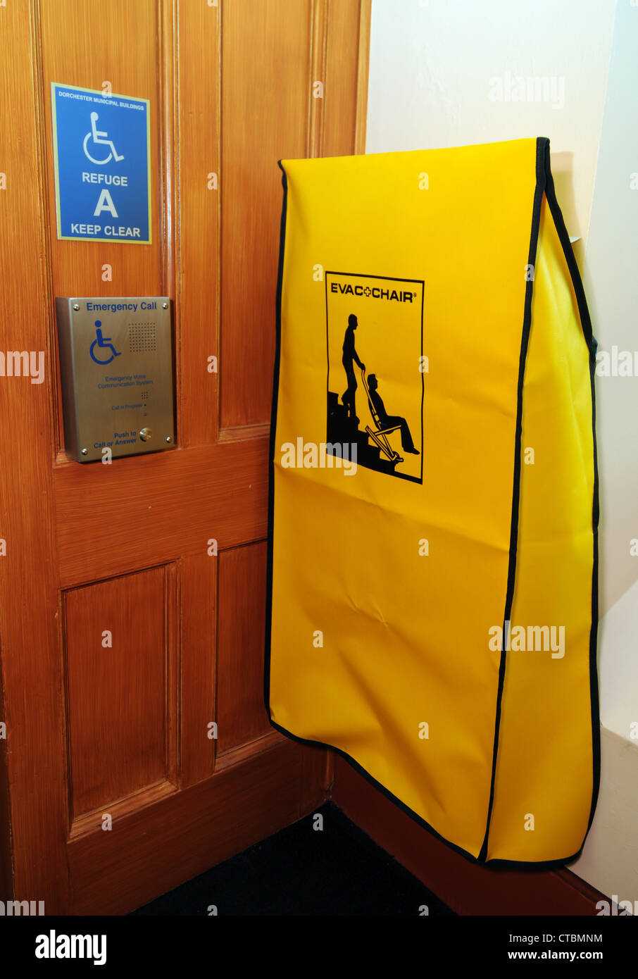 Evac chair, Emergency evacuation chair used for taking disabled ...