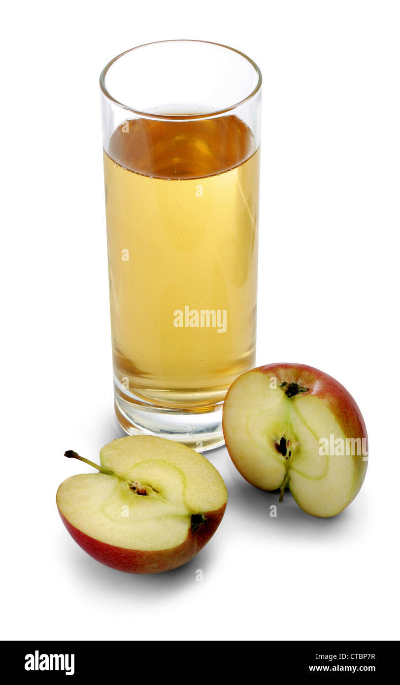 Apple Juice and glass - Stock Image