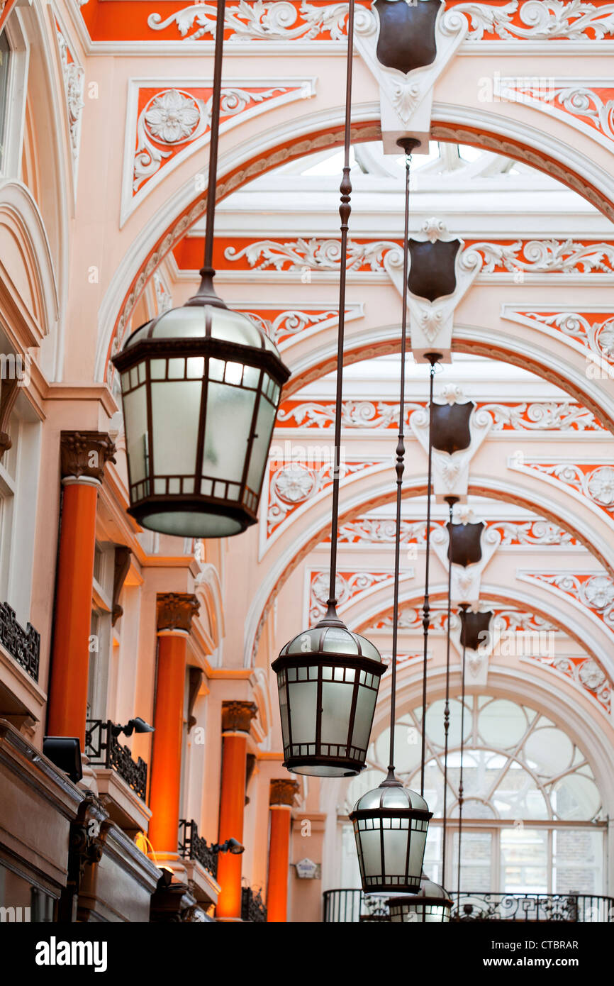 Interior of the Royal Arcade, London, UK - Stock Image