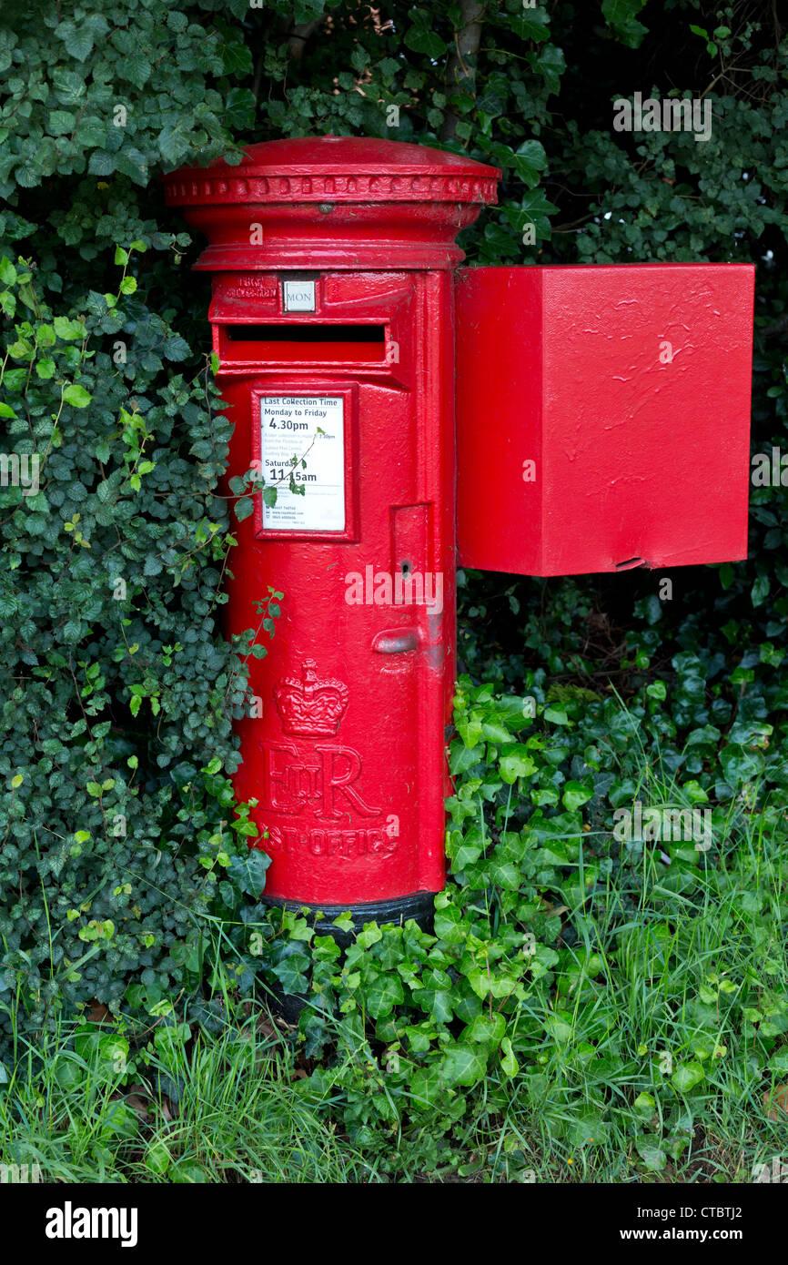 Red British Postbox - Stock Image