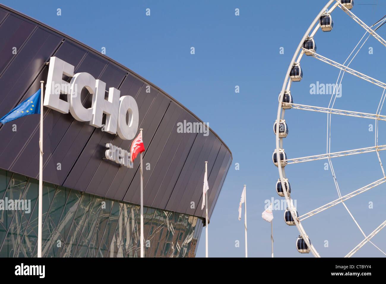 The Echo Wheel of Liverpool - Stock Image