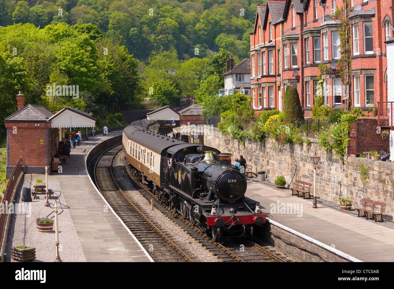 Llangollen steam train - Stock Image