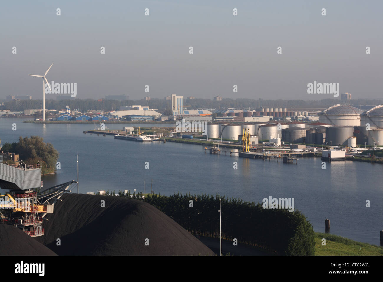 West port of Amsterdam Stock Photo