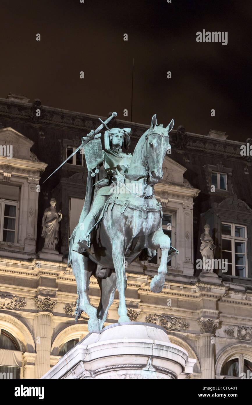 Etienne Marcel monument, Paris - Stock Image