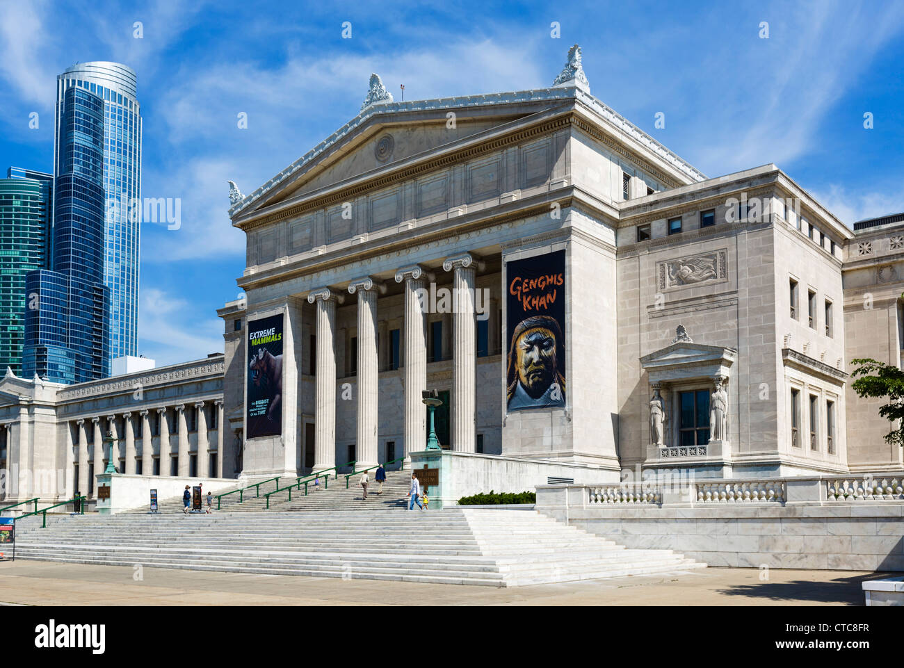 The Field Museum of Natural History on the Museum Campus in Grant Park, Chicago, Illinois, USA - Stock Image