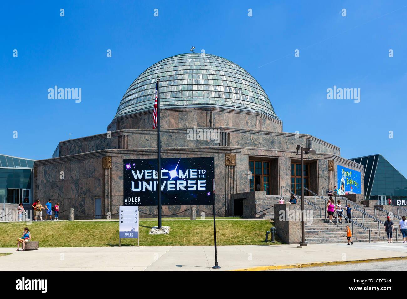 The Adler Planetarium on the Museum Campus in Grant Park, Chicago, Illinois, USA - Stock Image