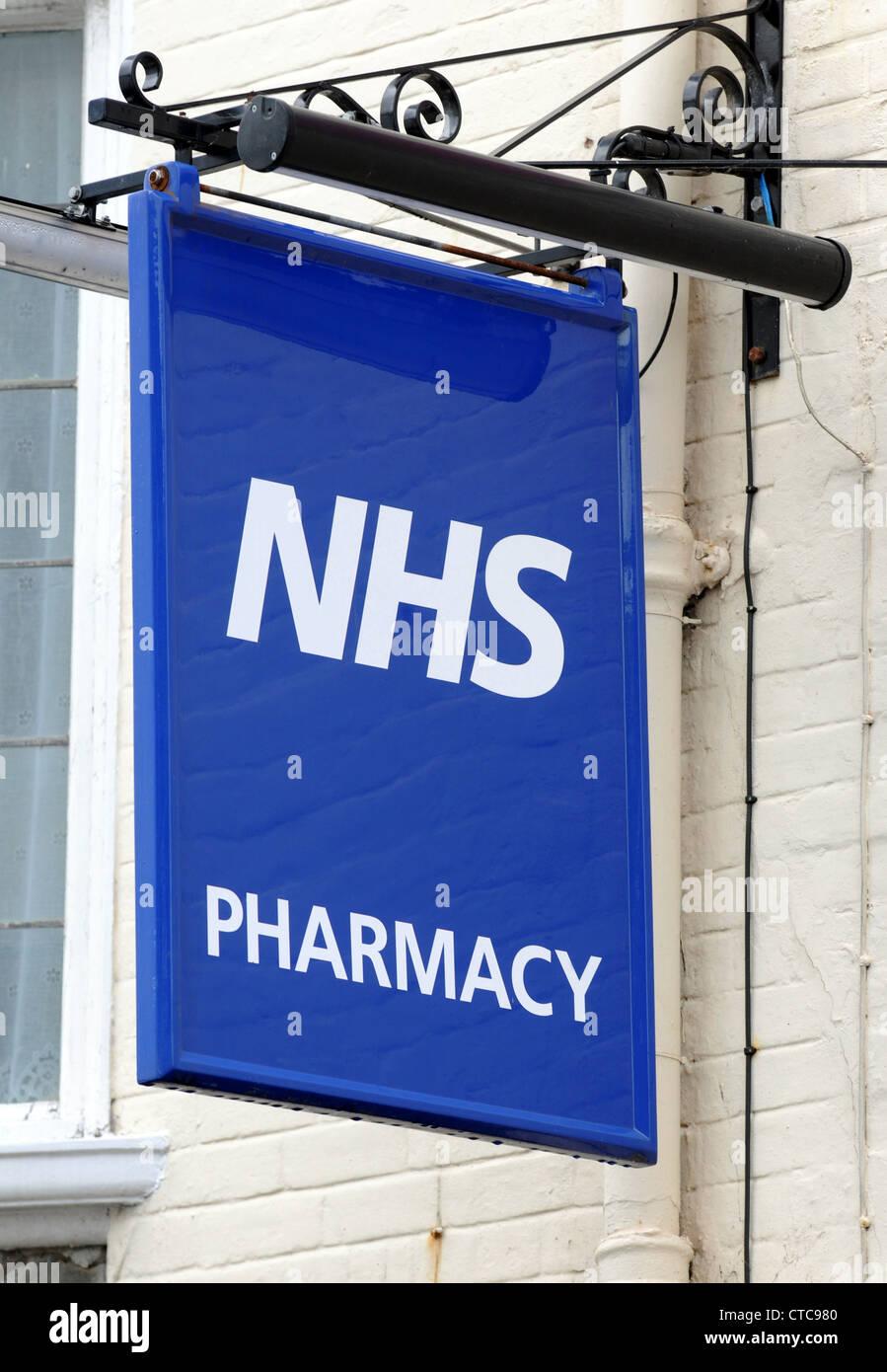 NHS sign, Britain, UK - Stock Image