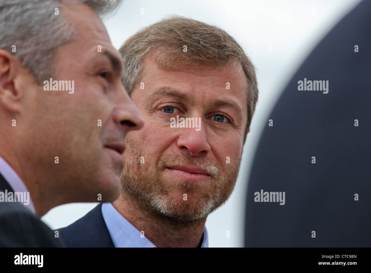 Russian billionaire Roman Abramovich during a ceremony at Skolkovo MBA school near Moscow, Russia - Stock Image
