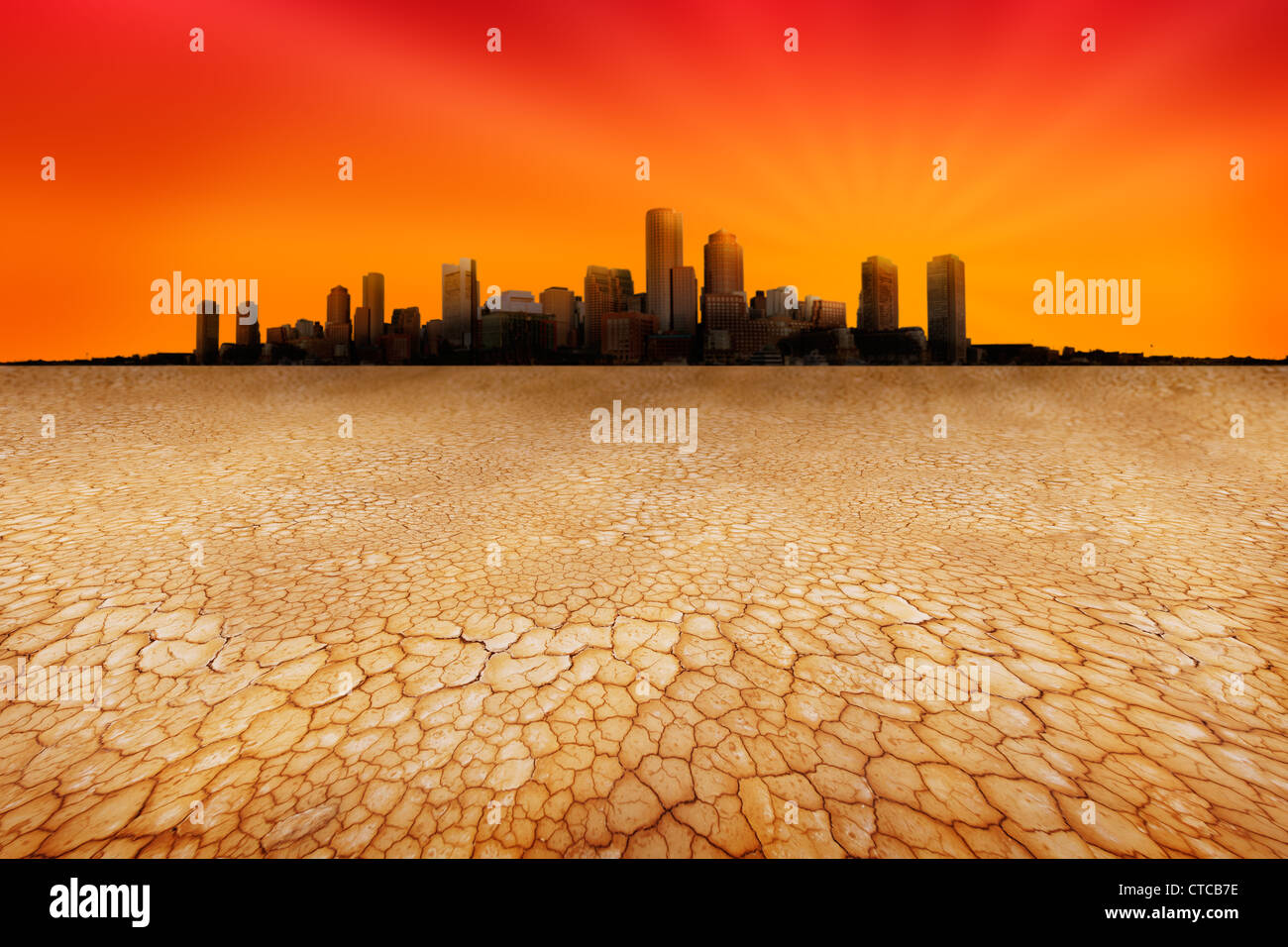 Water shortages encroaching on cities - Stock Image