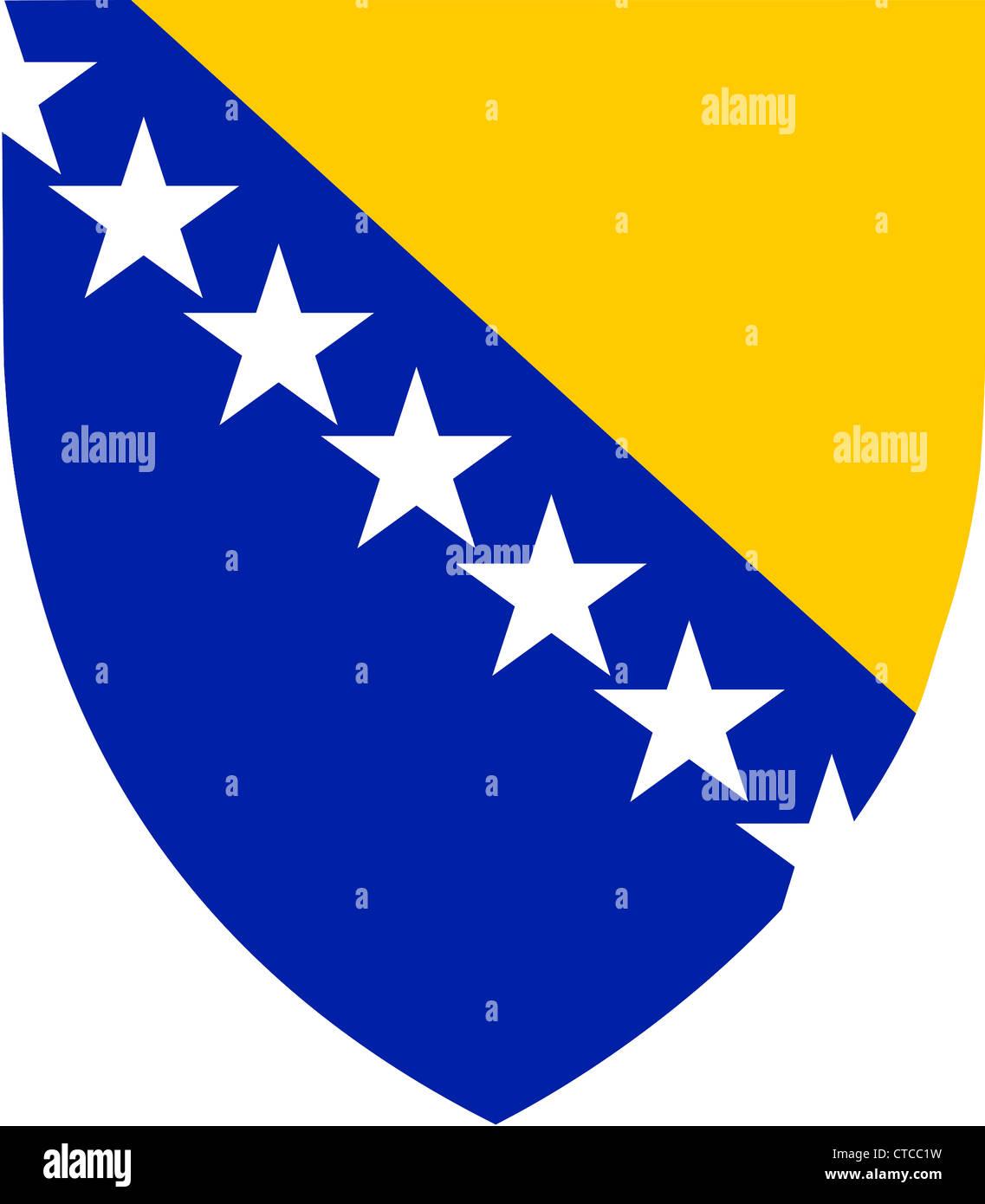 Coat of arms of Bosnia and Herzegovina. - Stock Image
