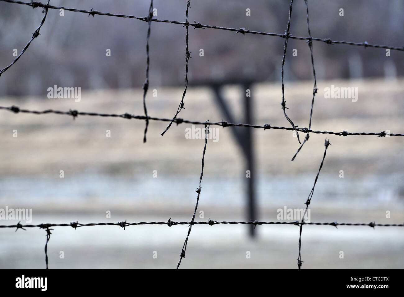 German Nazi concentration camp, extermination in occupied Poland, Hitler concentration camp, extermination camp - Stock Image