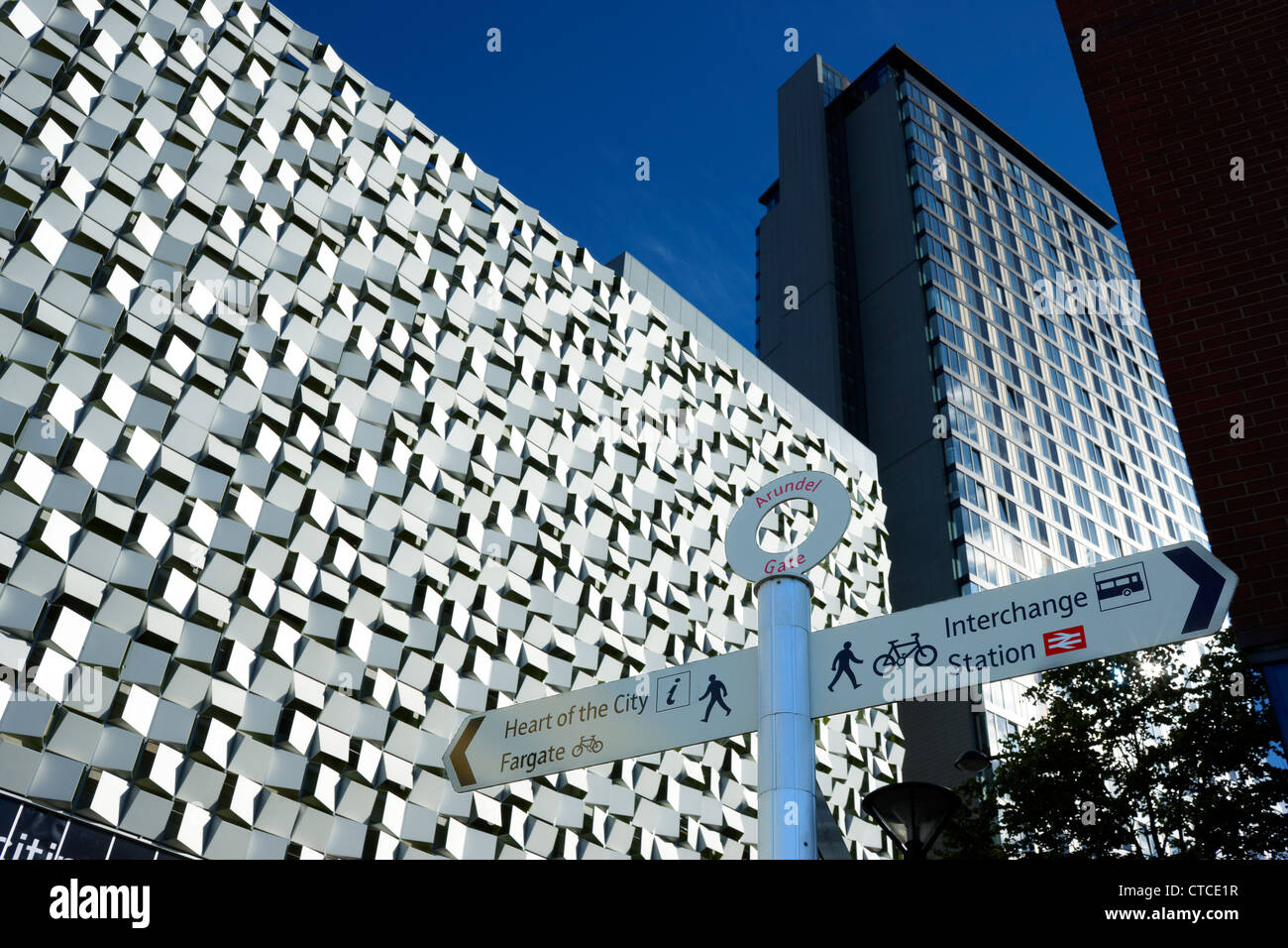 Charles Street Car Park, Sheffield, South Yorkshire. Architects Allies and Morrison. Nicknamed ' The Cheesegrater - Stock Image