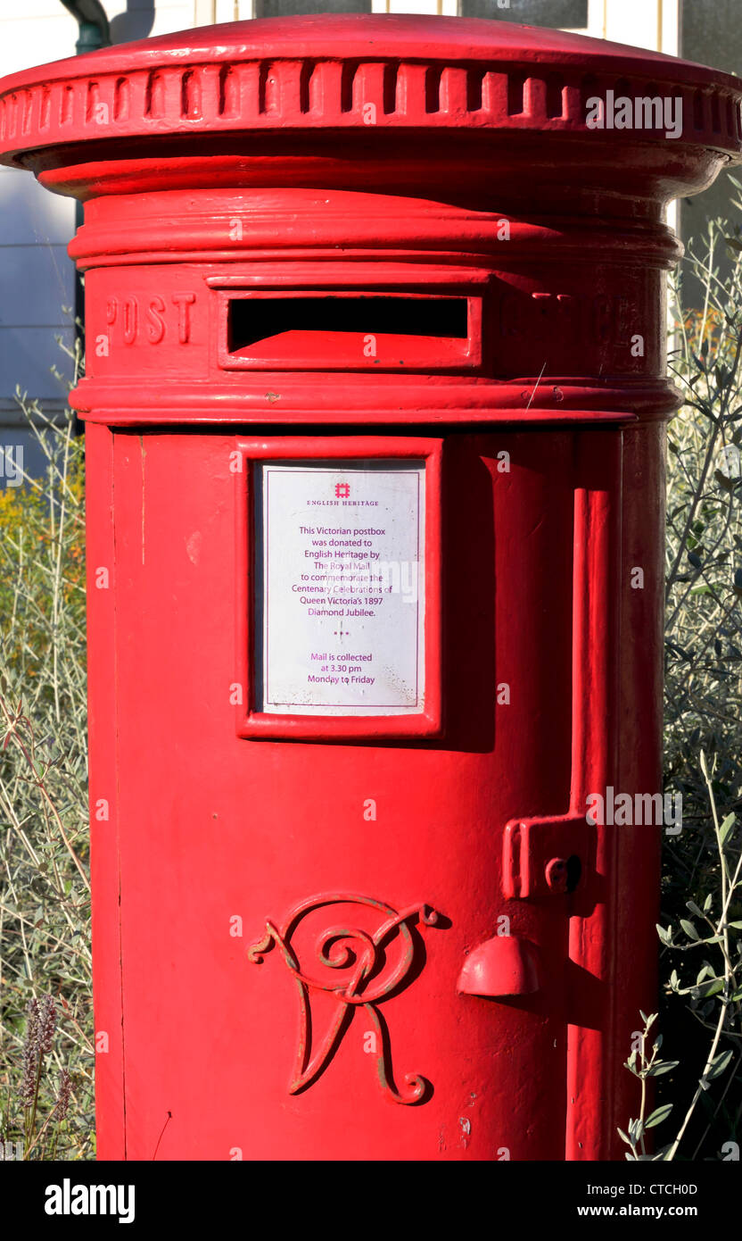 4144. Victorian Letter Box, Osbourne House, Isle of Wight, UK - Stock Image