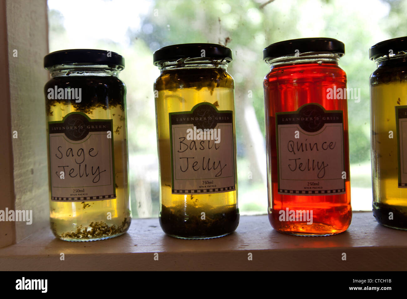 Jelly, Jam, Lavender's Green, Wairaparapa, North Island, New Zealand - Stock Image