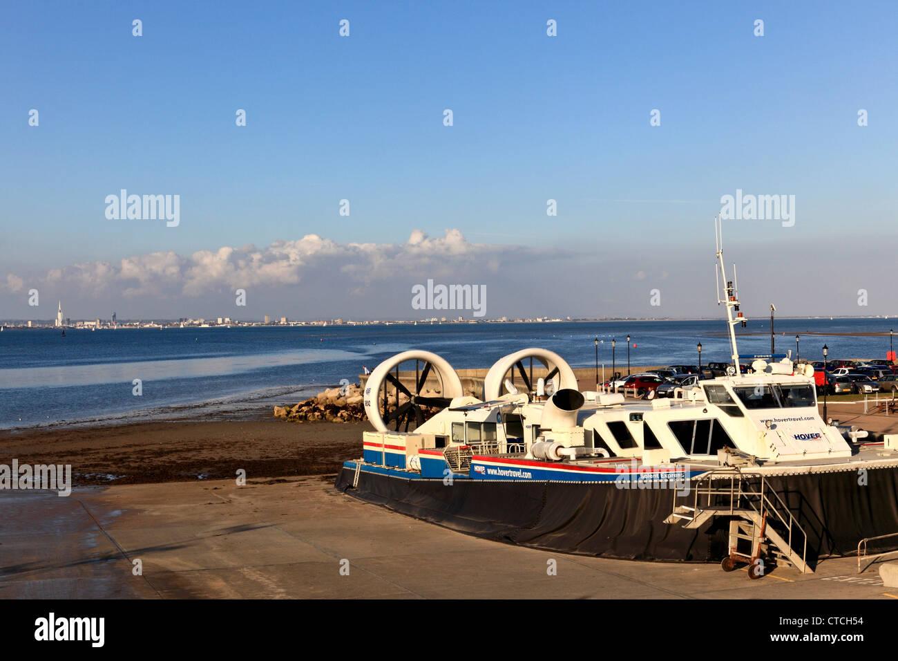 4146. Hovercraft Harbour, Ryde, Isle of Wight, UK - Stock Image