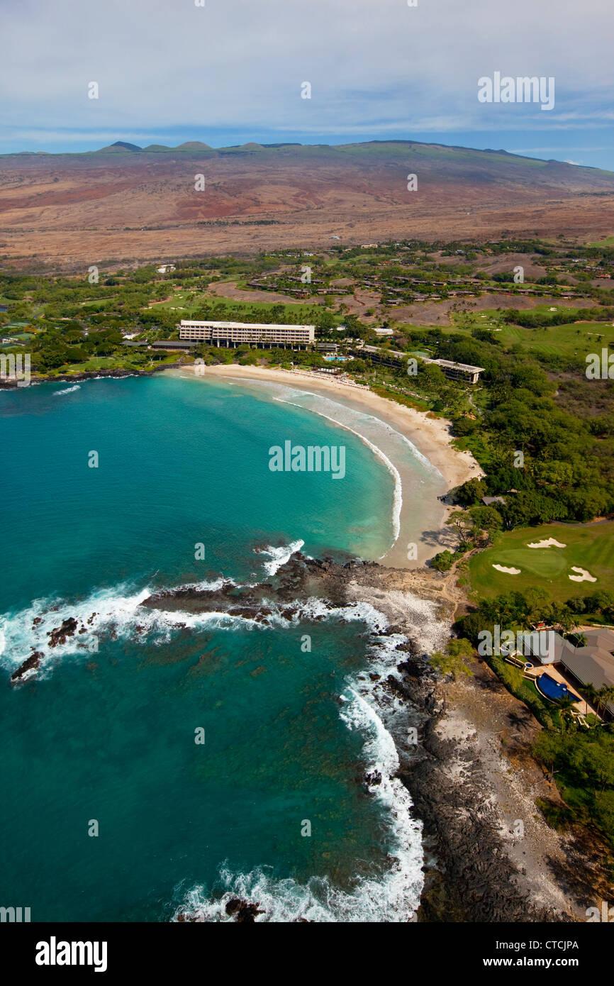 Mauna Kea Beach Resort Kohala Coast Island Of Hawaii Stock