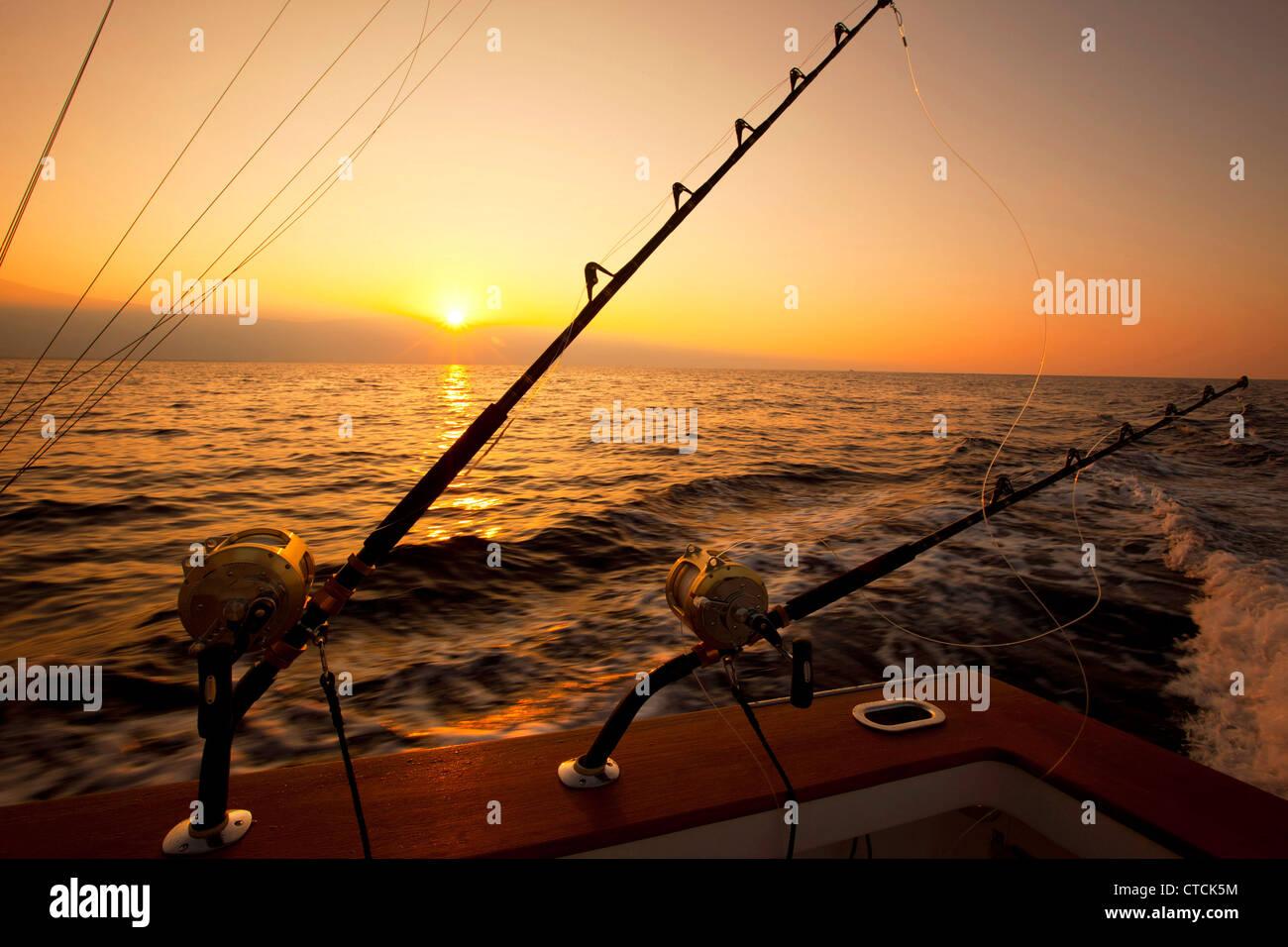 Deep Sea Fishing, Kailua-Kona, Island of Hawaii - Stock Image