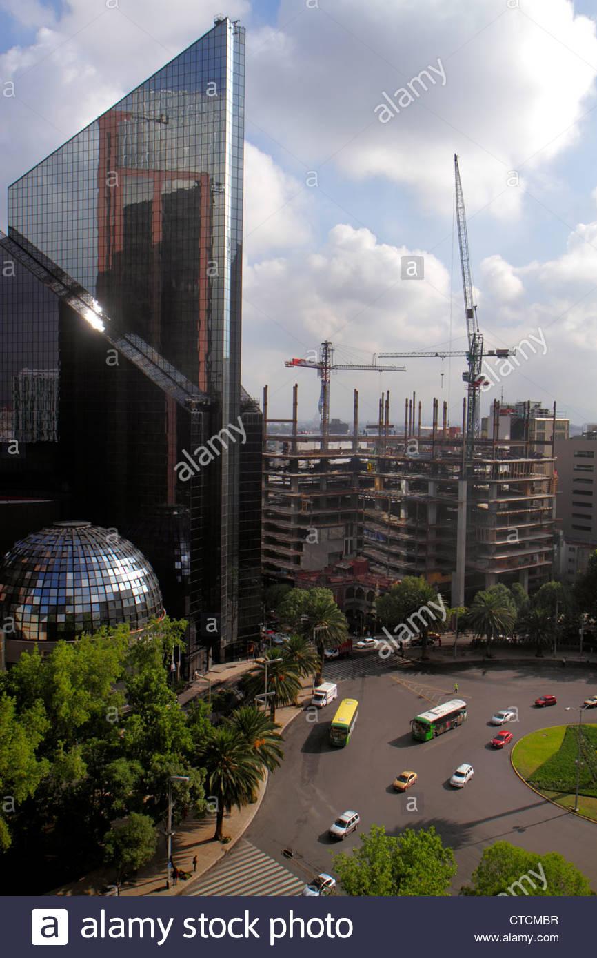 Mexico City Mexico DF D.F. Ciudad de México Federal District Distrito Federal Cuauhtemoc Paseo de la Reforma - Stock Image