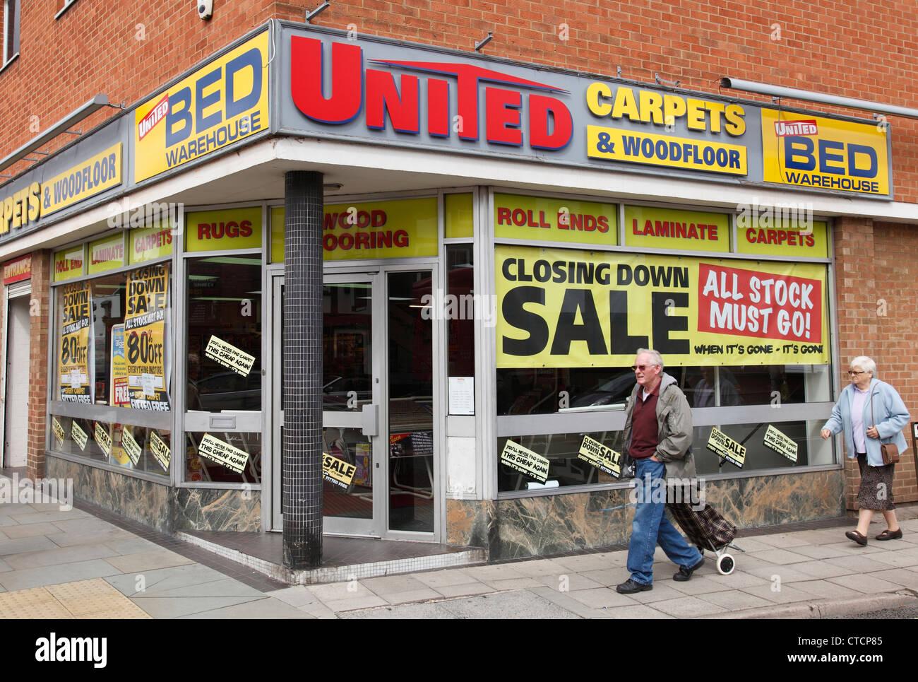 A United Carpets store in Melton Mowbray, England, U.K. - Stock Image