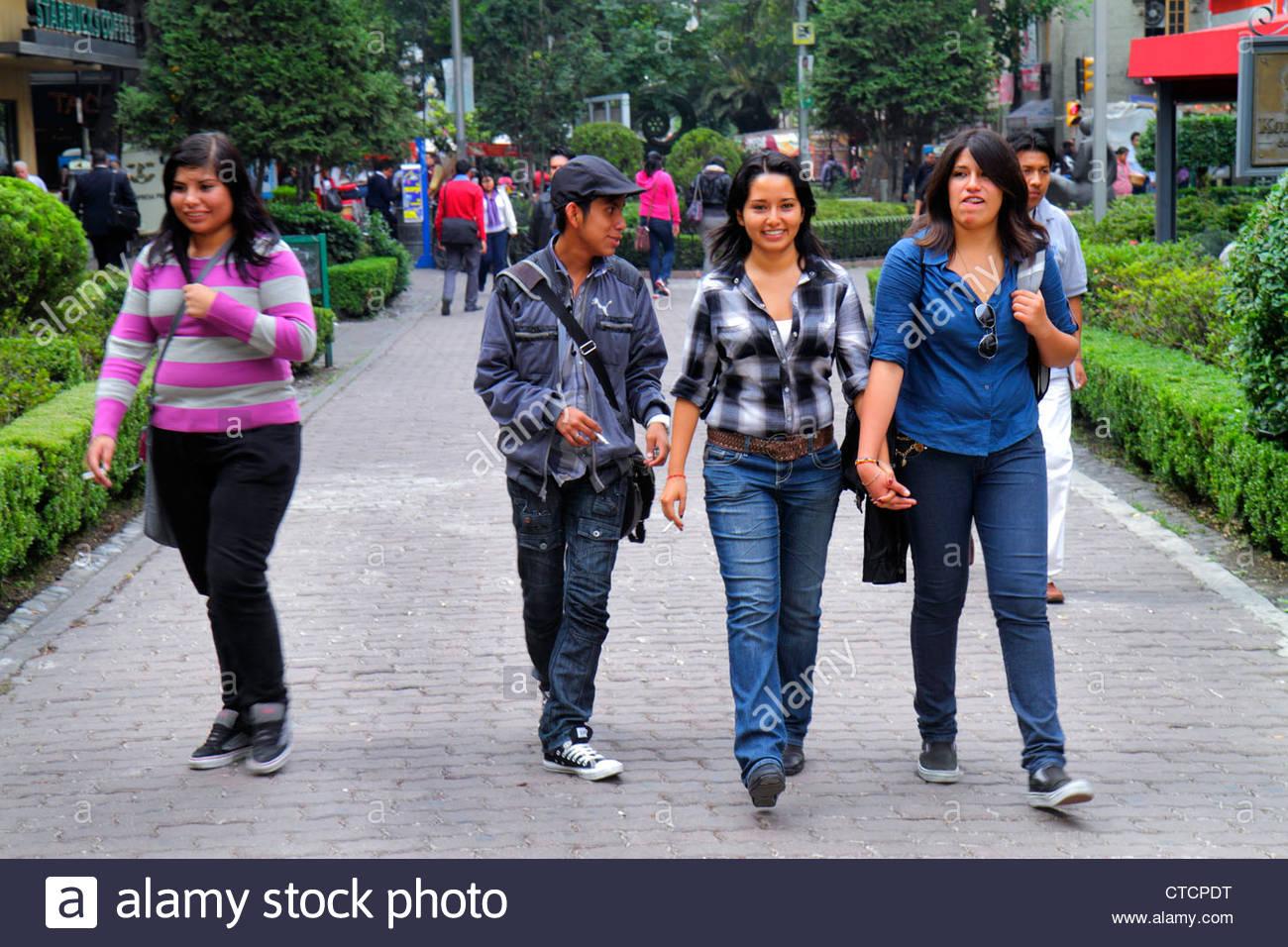 Mexico City Mexico DF D.F. Ciudad de México Federal District Distrito Federal Zona Rosa Calle Genova - Stock Image