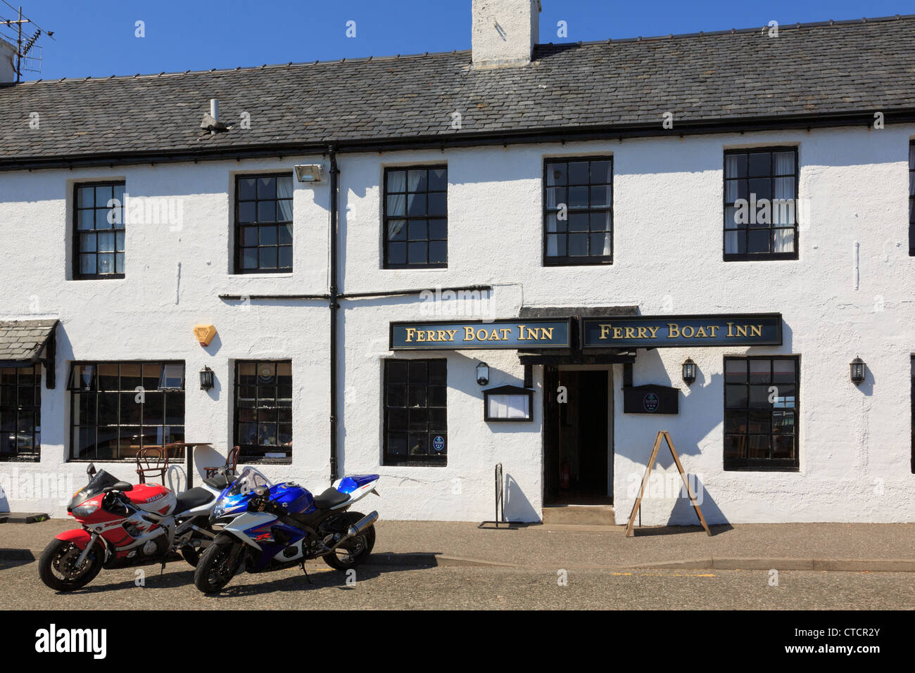 The Ferry Boat Inn traditional town pub in Ullapool, Ross and Cromarty, Scotland, UK, Britain - Stock Image