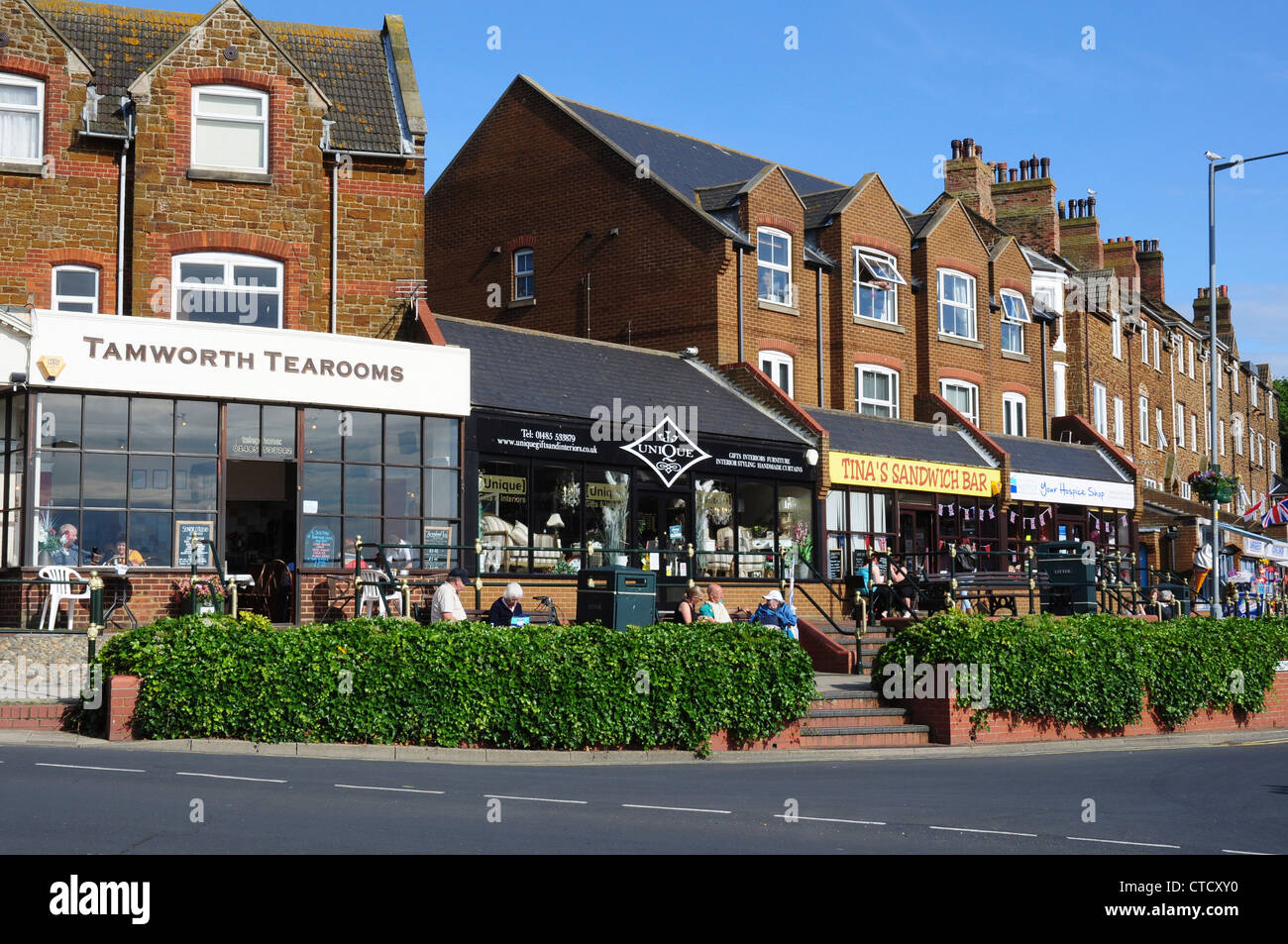 Shops and tea rooms, Hunstanton, Norfolk, England, UK Stock Photo