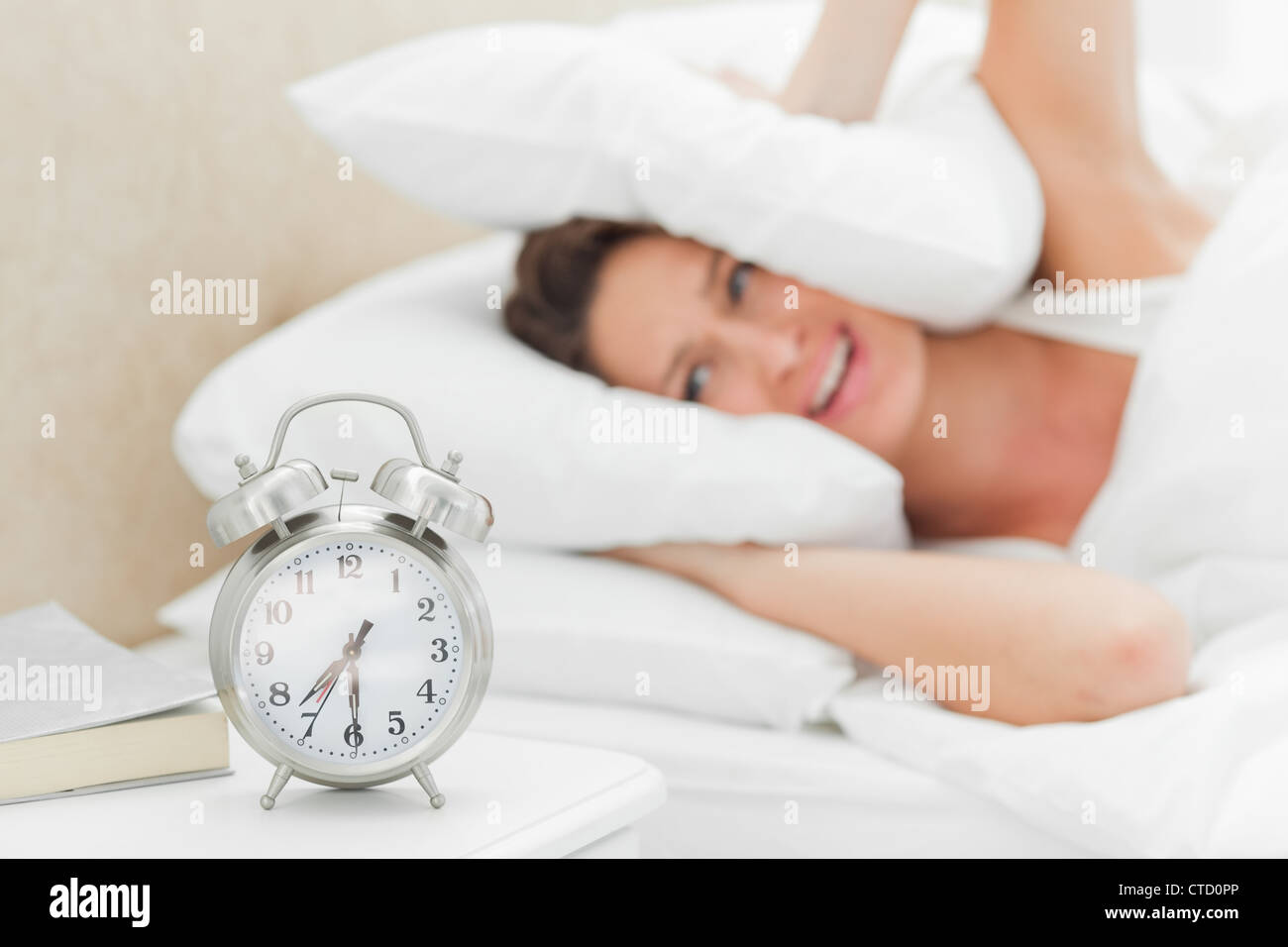 Alarms clock ringing loudly - Stock Image