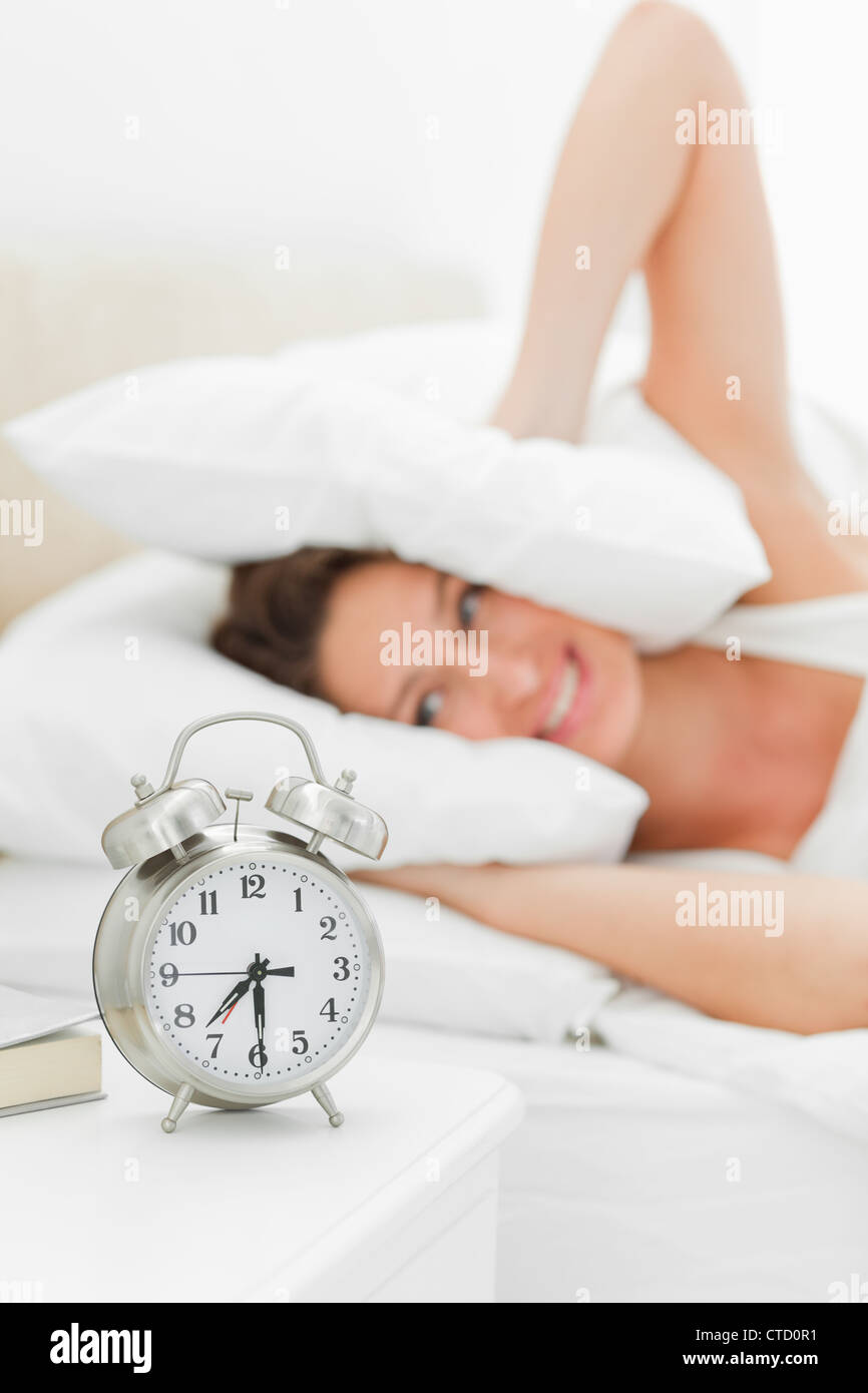 Alarms clock is ringing loudly - Stock Image