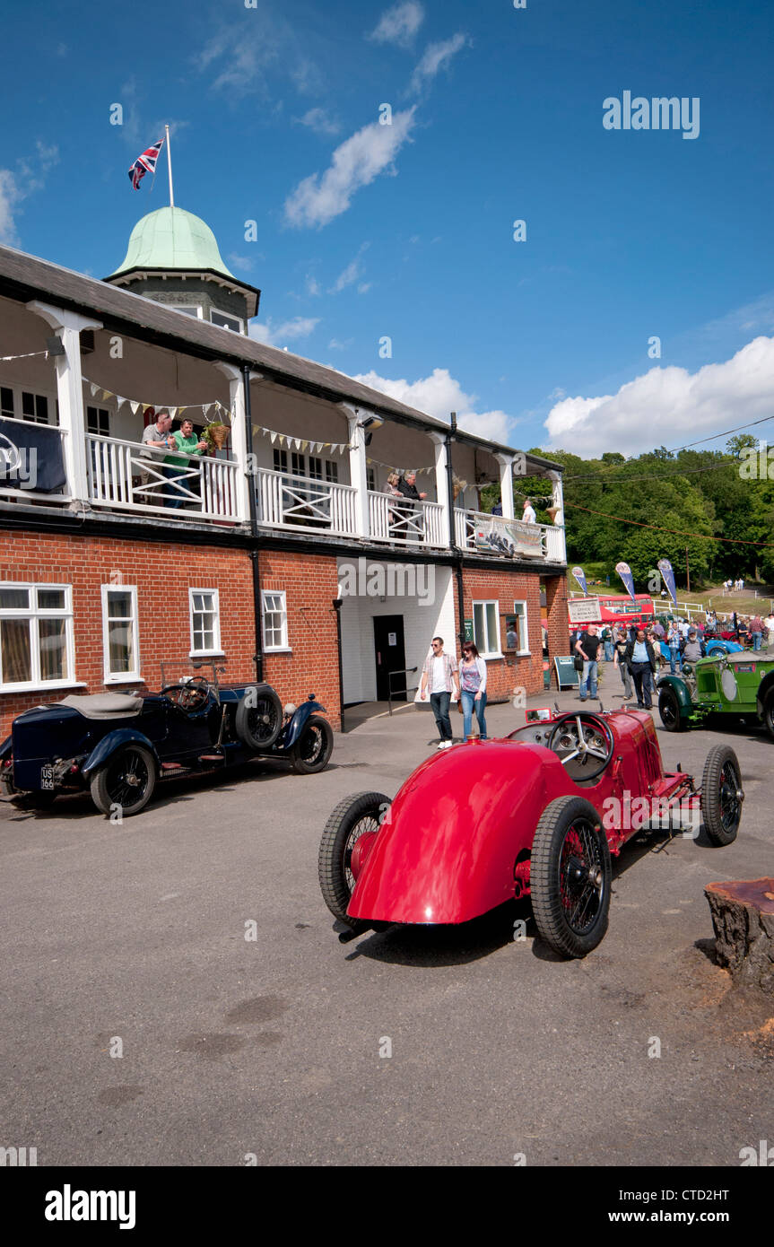 Vintage cars at Brooklands museum in Weybridge Surrey Stock Photo