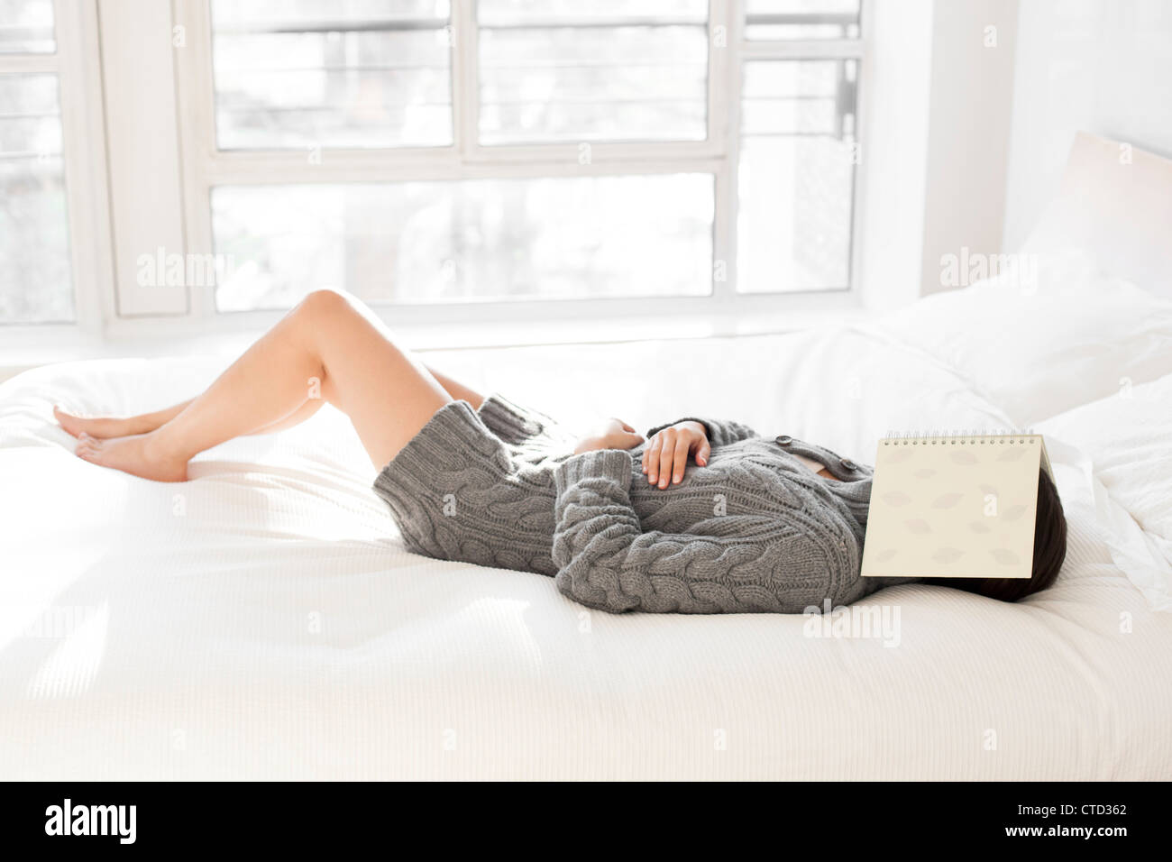 Woman sleeping - Stock Image