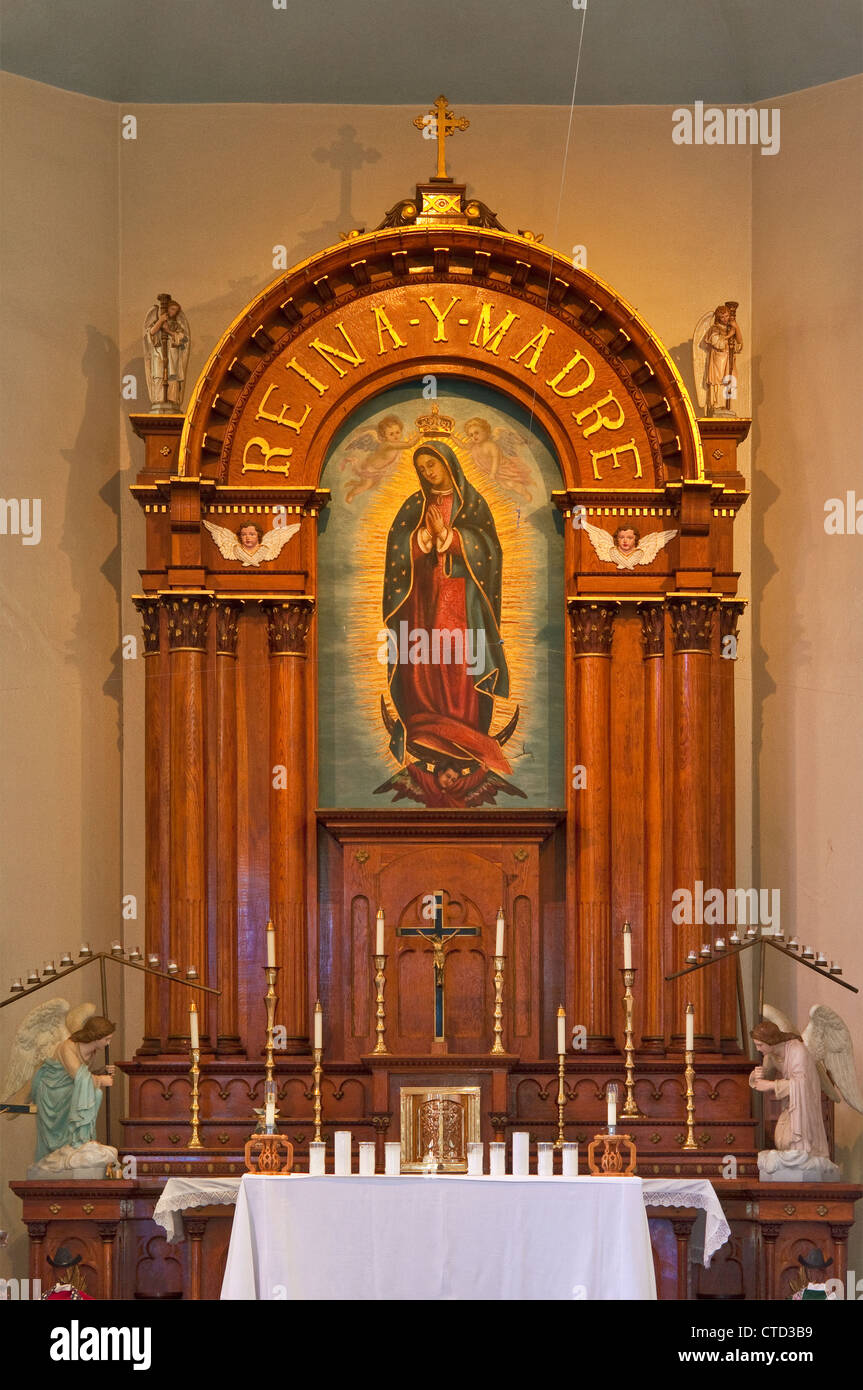 Main altar at Our Lady of Guadalupe Catholic Church in