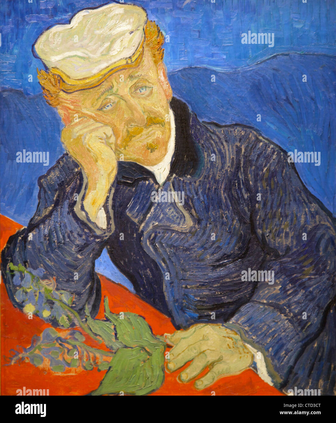 Portrait of Dr. Gachet by Vincent van Gogh 1890 Musee D'Orsay Orsay Museum and Art Gallery Paris France Europe - Stock Image