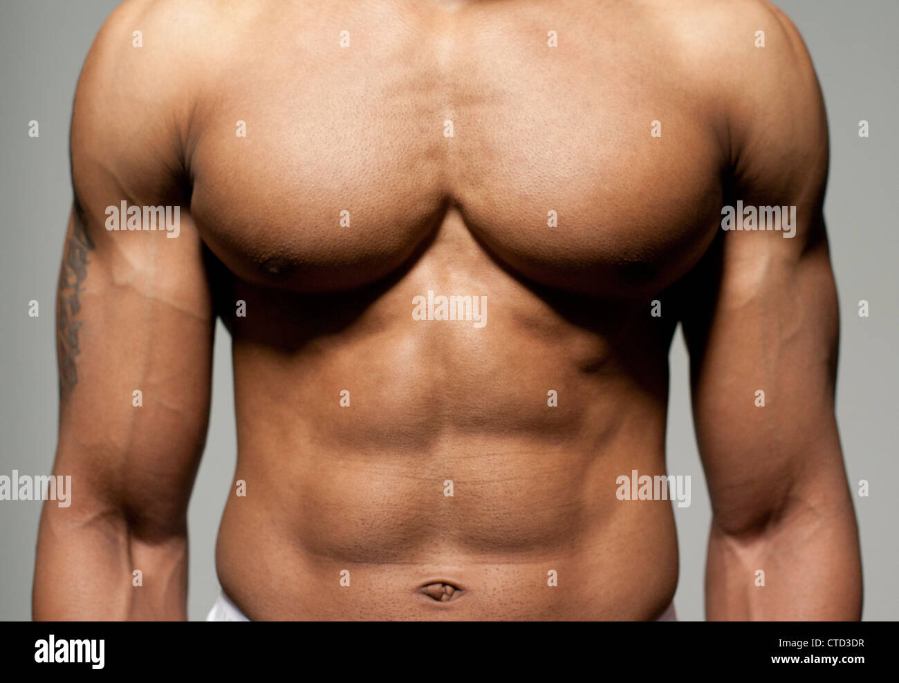 Male torso Stock Photo