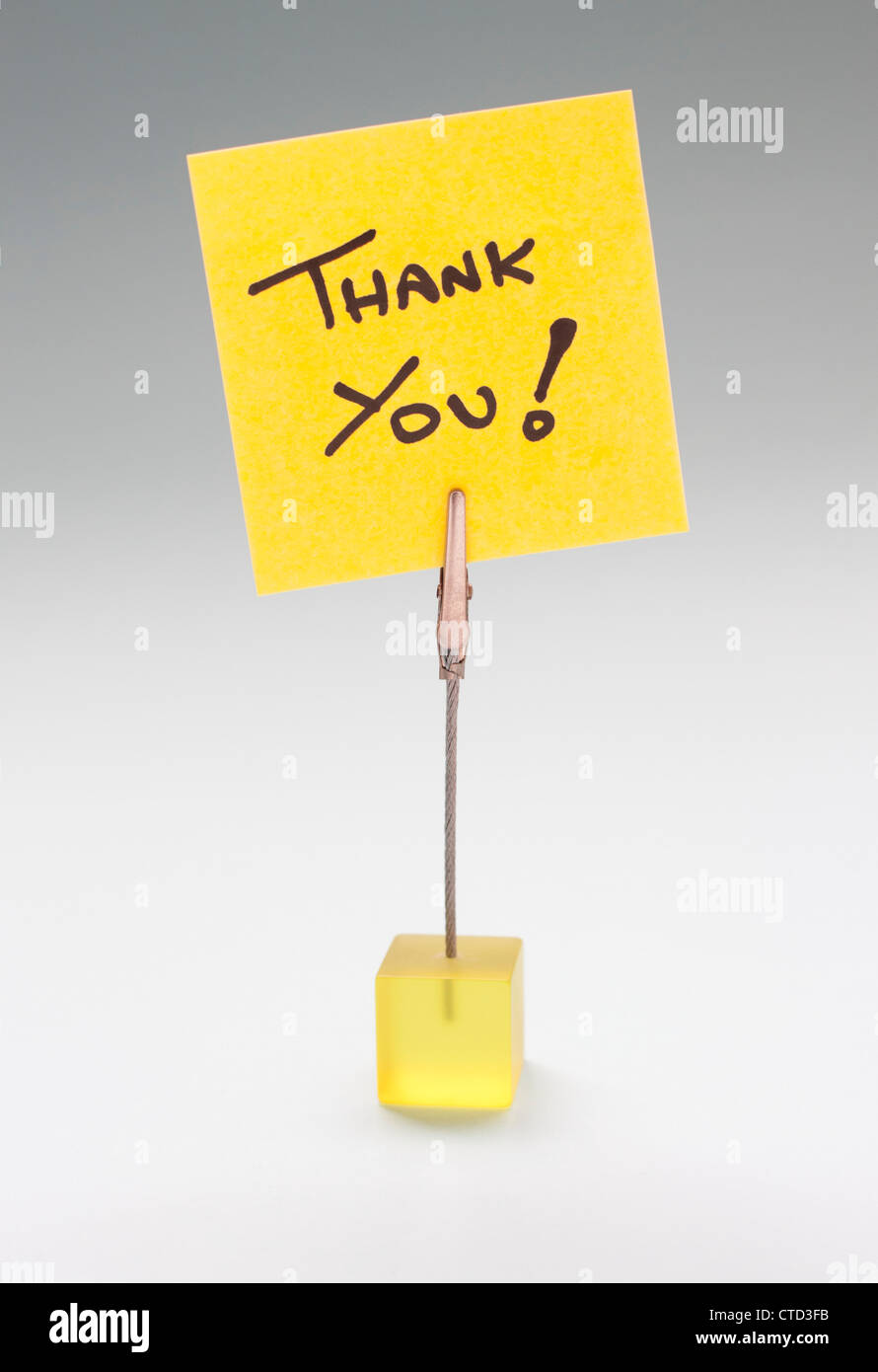 Thank you note - Stock Image