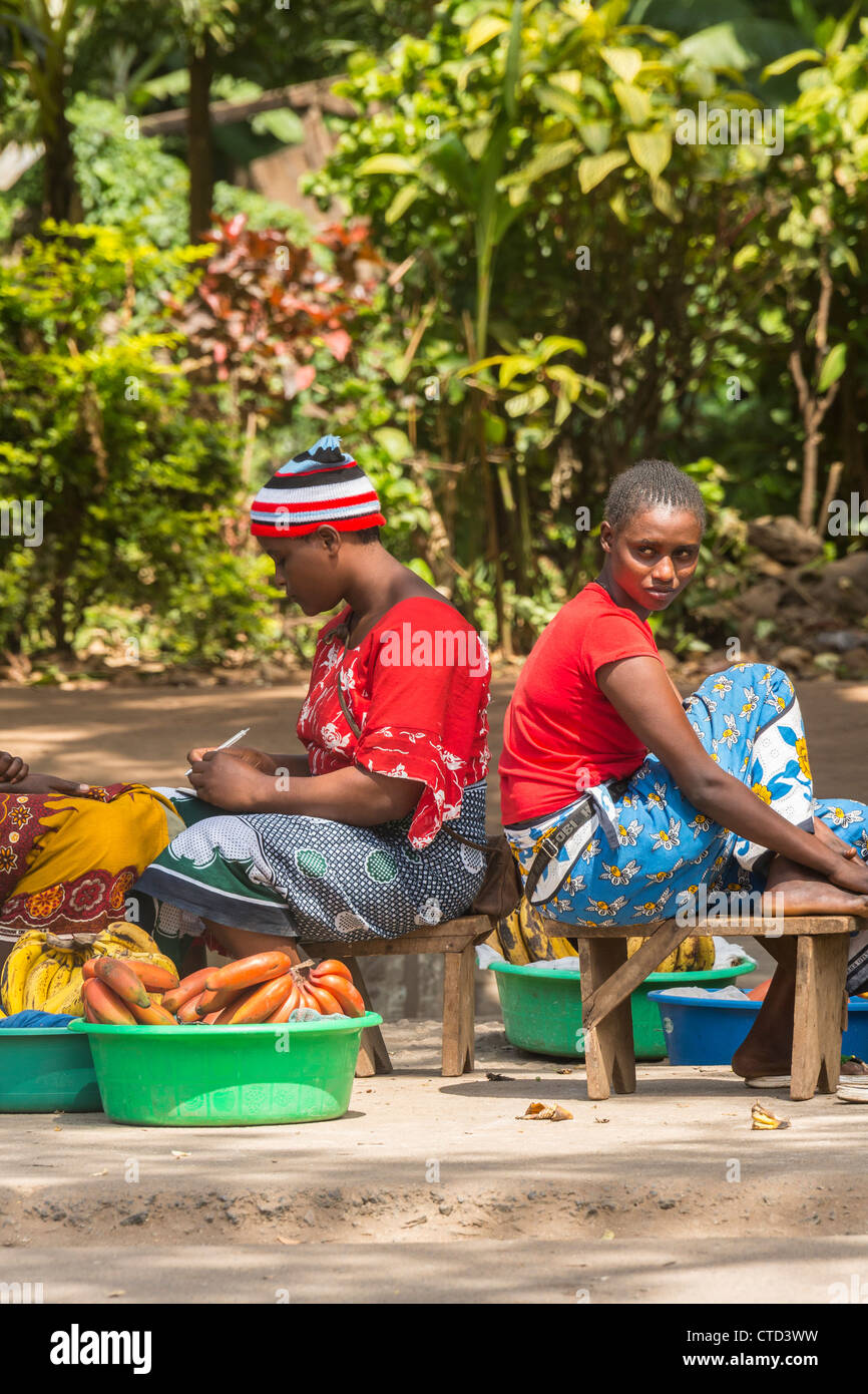 Roadside Vendors Africa - Stock Image