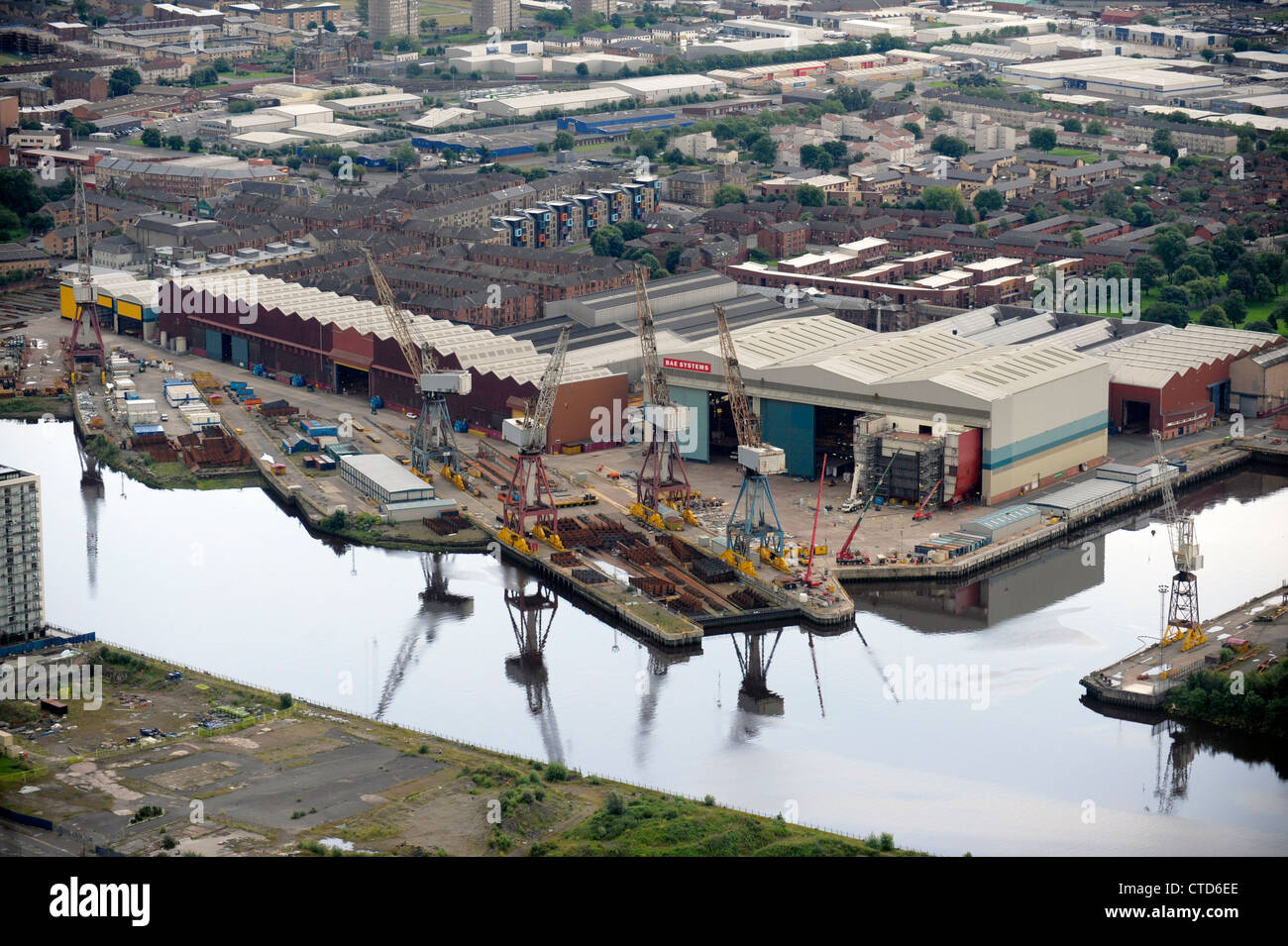 BAE Systems, Glasgow on the River Clyde - Stock Image