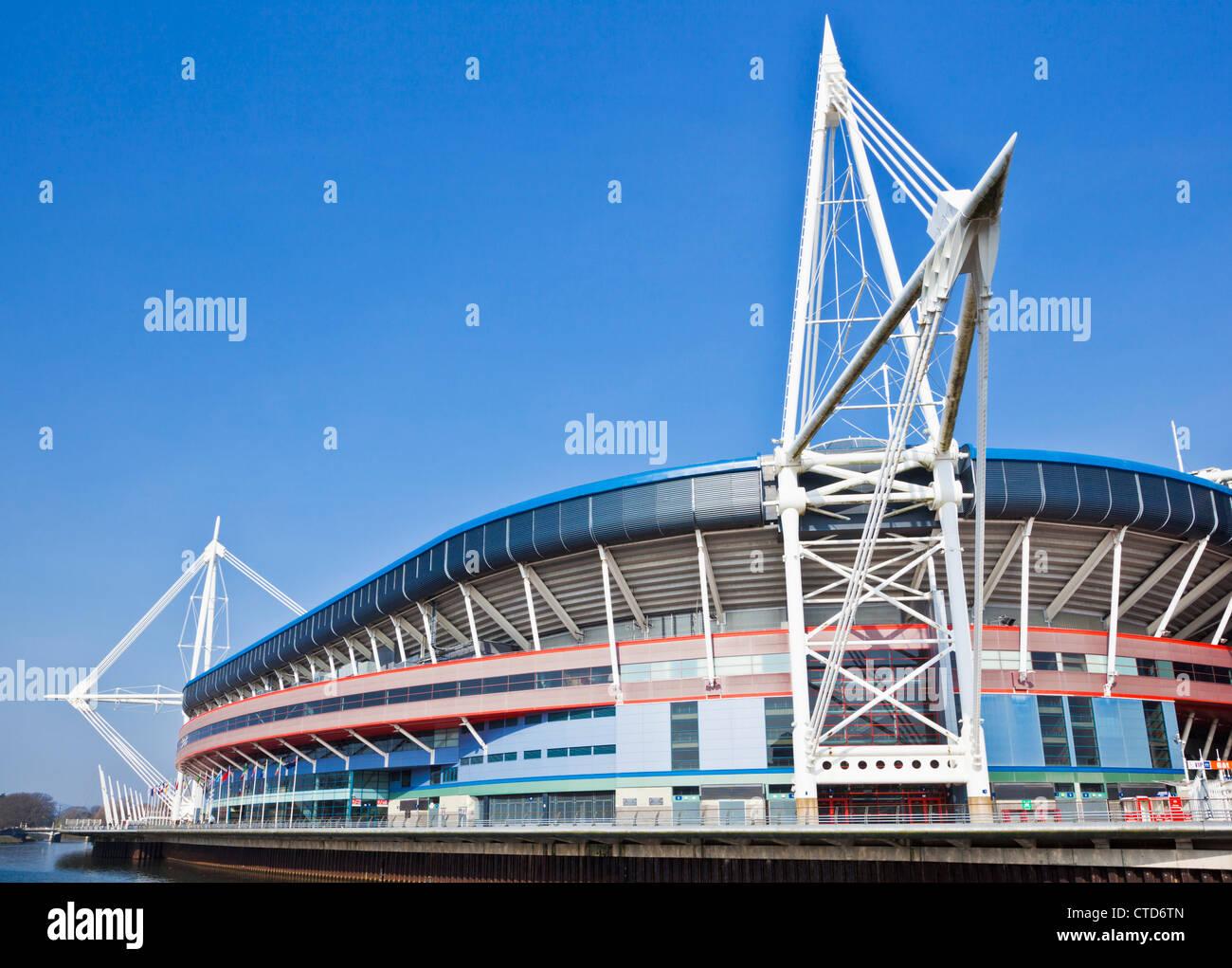 Millennium stadium Cardiff South Glamorgan South Wales UK GB EU Europe - Stock Image