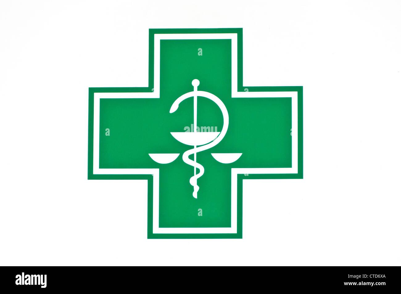 caduceus symbol of medicine Stock Photo
