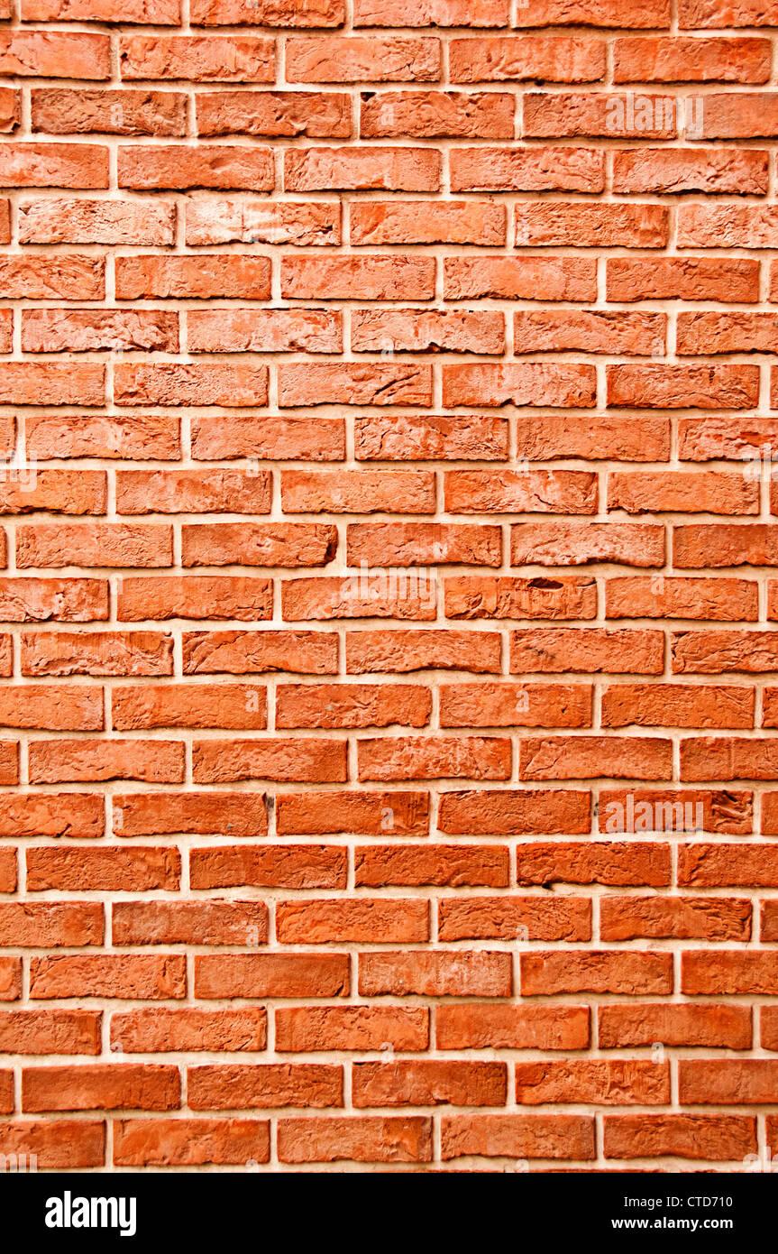 red bricks wall - Stock Image