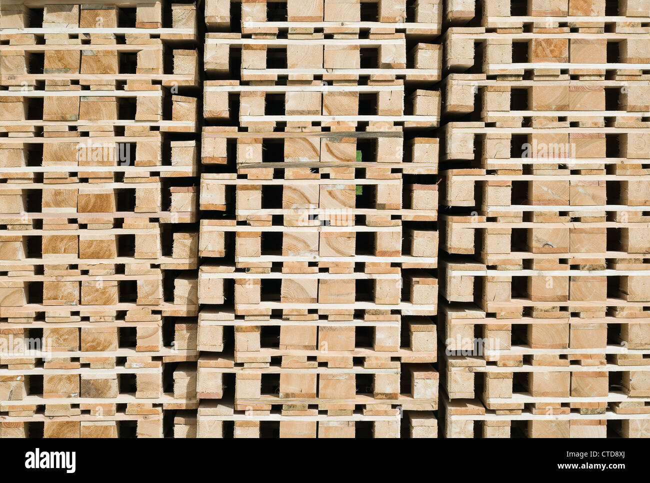 Stack of Transportation Pallets for Cargo and Logistic - Stock Image