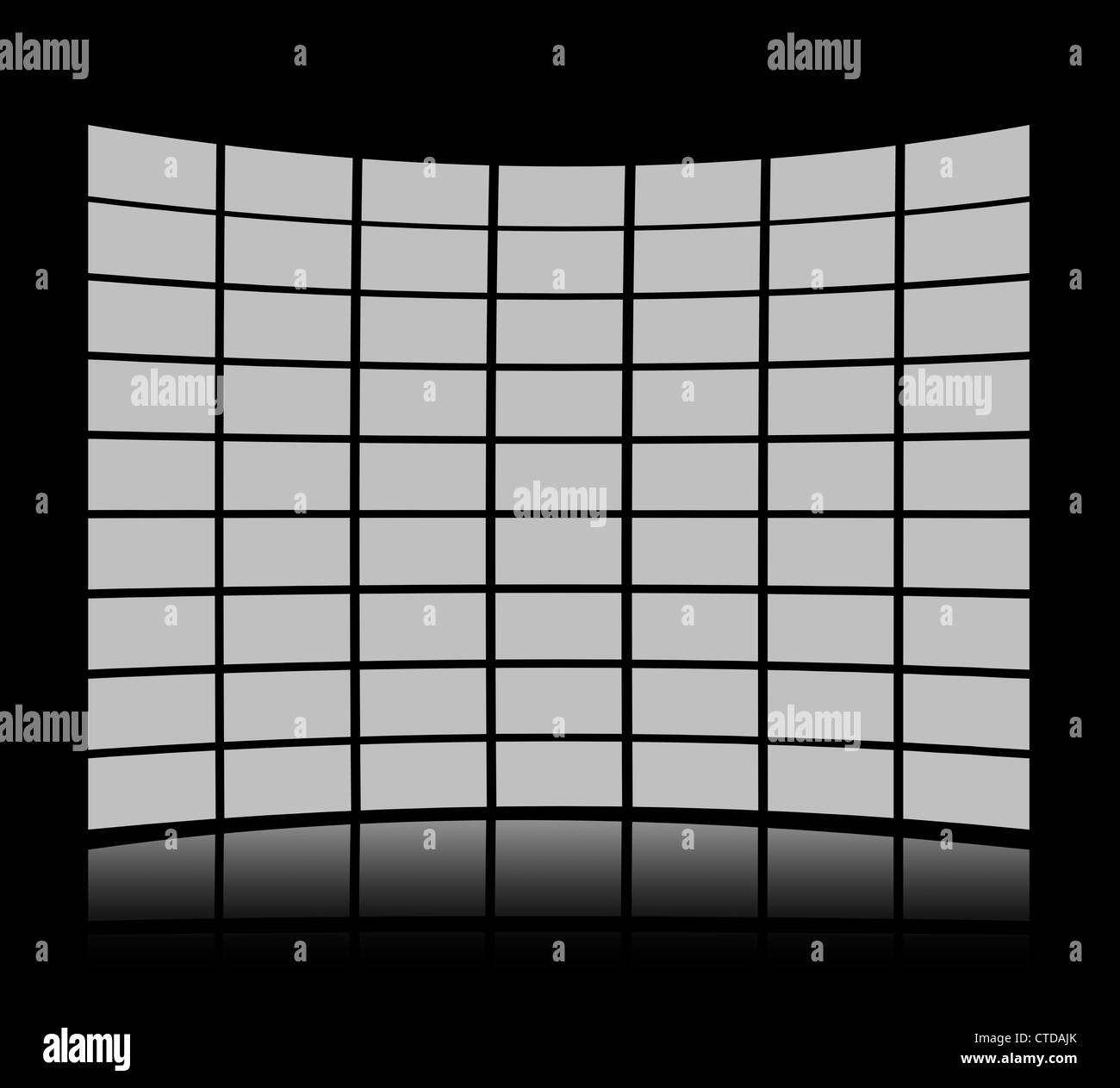 Grey screens forming a panel - Stock Image
