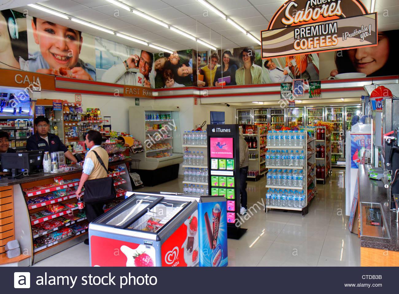 Mexico City Mexico DF D.F. Ciudad de México Federal District Distrito Federal Zona Rosa Calle Genova Hispanic man Stock Photo