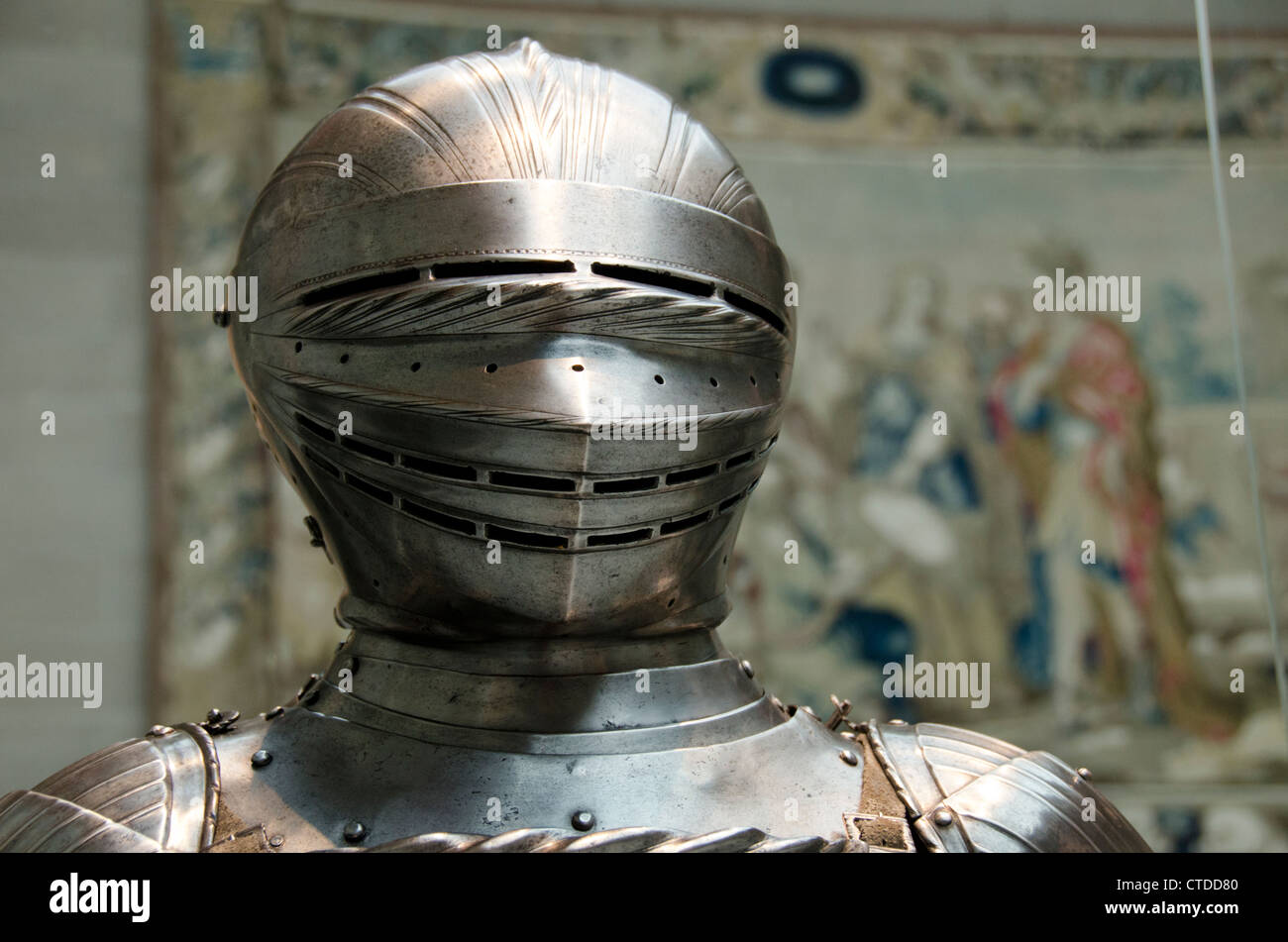 Ohio, Cleveland. The Cleveland Museum of Art. Maximilian Style steel field armor, Germany about 1510-1515. Stock Photo