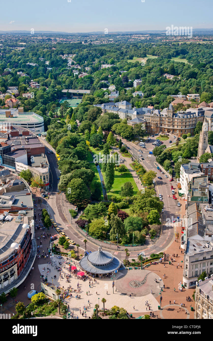Aerial view of Bournemouth City Center, Dorset, England, United Kingdom, EurUnited Kingdom. England. Dorset. Bournemouth. - Stock Image