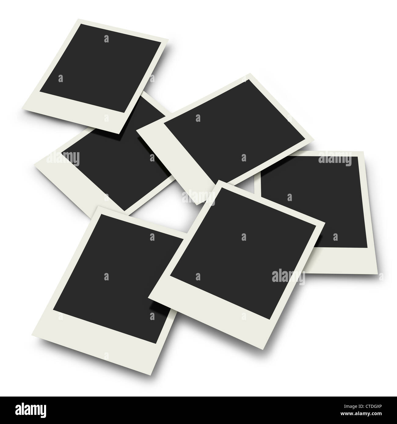six polaroid prints on white background stock photo 49471150 alamy